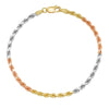 3MM TRI COLOR Rope Bracelet (DIAMOND CUT)