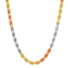 5MM TRI COLOR Rope Chain (DIAMOND CUT)