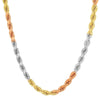 7MM TRI COLOR Rope Chain (DIAMOND CUT)