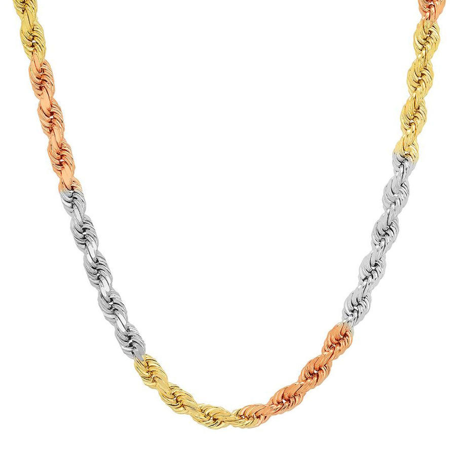 6MM TRI COLOR Rope Chain (DIAMOND CUT)
