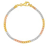 3MM TRI COLOR Franco Bracelet (DIAMOND CUT)