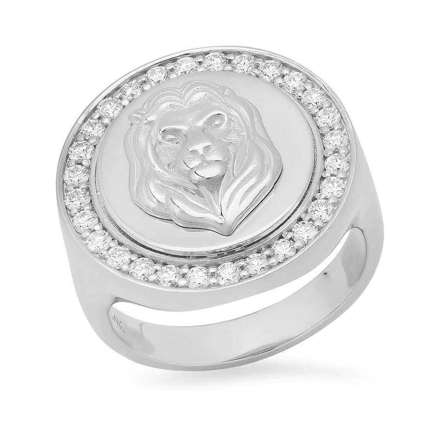 Diamond Lion Ring
