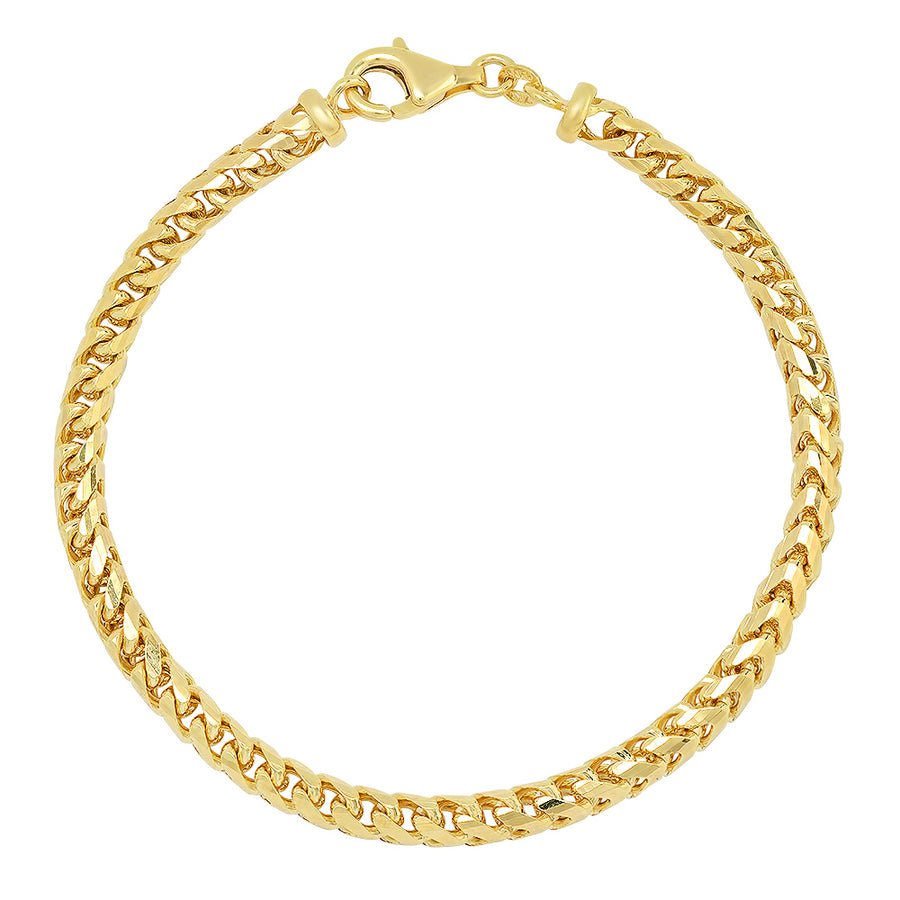 4MM Franco Bracelet (DIAMOND CUT)
