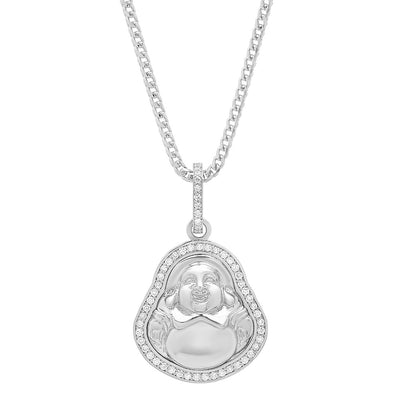 Mini Diamond Buddha Pendant