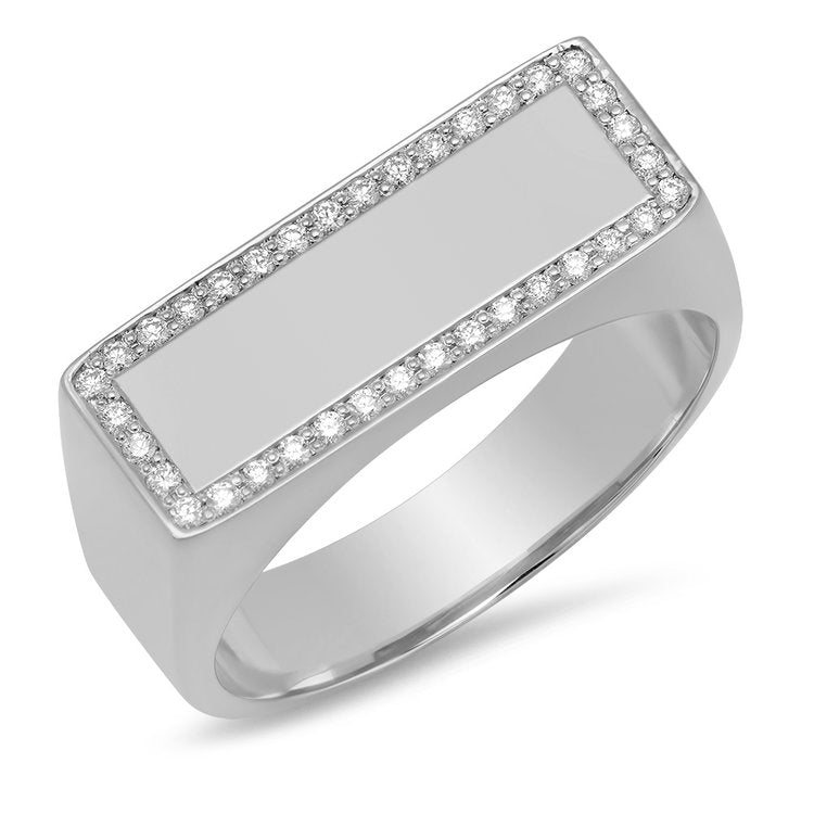 Diamond Flat Ring