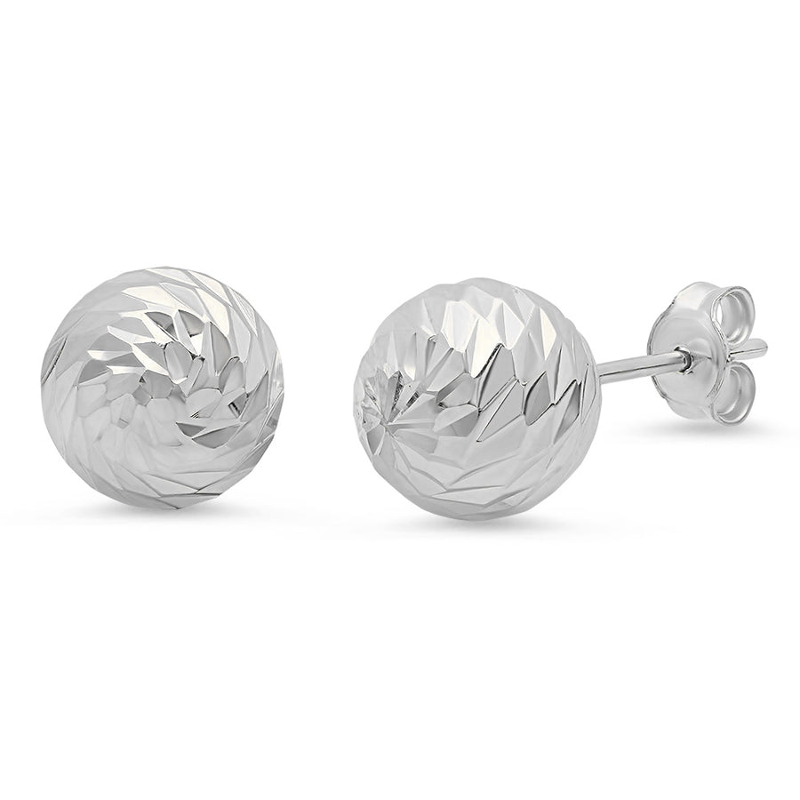 Large Diamond Cut Studs