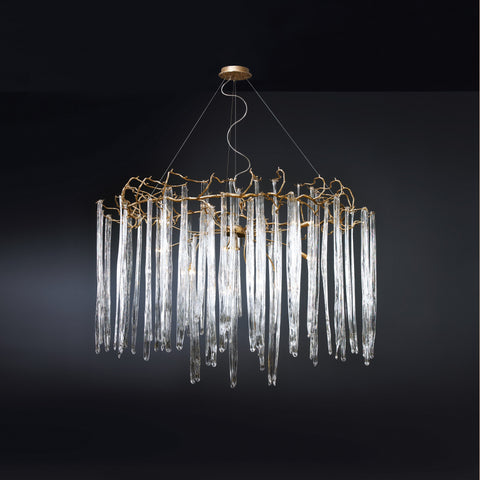Waterfall Round Large Chandelier