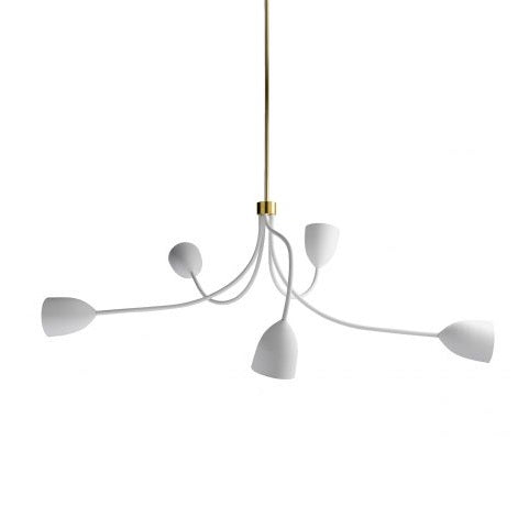 Tulip Ceiling Light - Plaster White