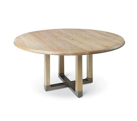 Astrid Round Dining Table With Bronze Base