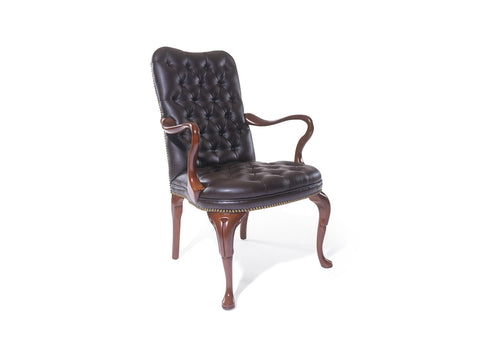Traditional Fairfax Arm Chair with Tufted Bow Back