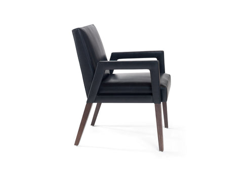 Reed Arm Chair Upholstered Arm