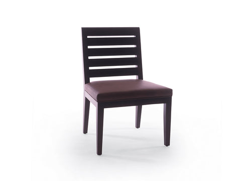 High Wide Side Chair Slat Back