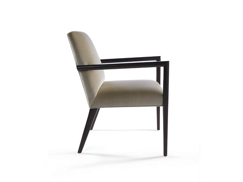 Zack Arm Chair with Wood Arm and Back Legs