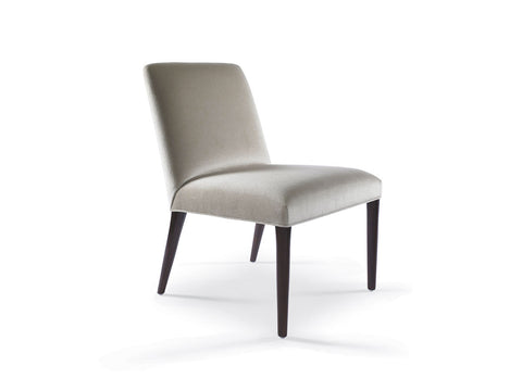 Zack Side Chair with Wood Front and Back Legs