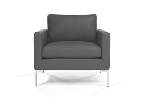 Madison Lounge Chair With Metal Leg