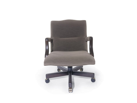 Traditional Danube Swivel Chair Mid Back with Open Arm