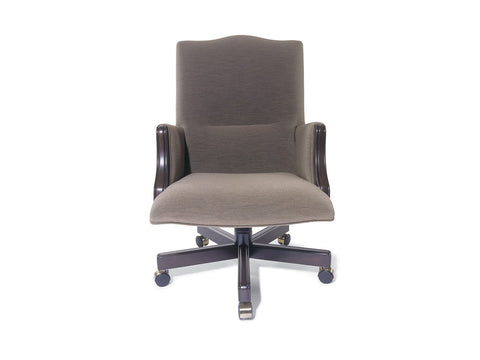Traditional Danube Swivel Chair High Back with Closed Arm