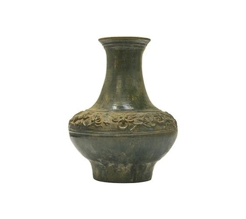 HAN STYLE JAR WITH RUNNING BEASTS, LARGE, LONG NECK