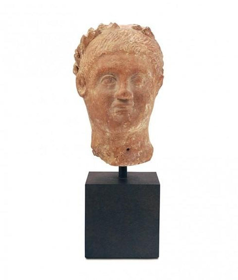 POMPEIAN BUST ON STAND