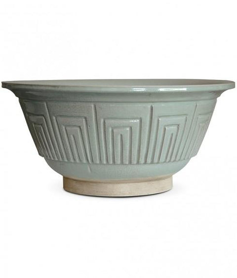 CRACKLEWARE FRIEZE BOWL, CELADON