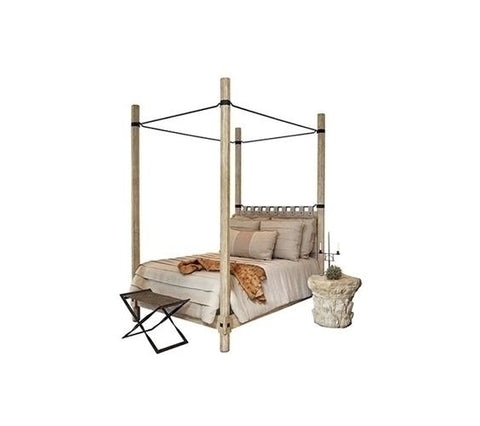 SANTIAGO BED WITH IRON CANOPY KING