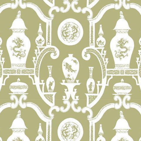Cathay Wallpaper - Celadon Green
