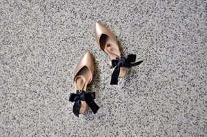 Sala Chaussures Rose Kitten Heels with Bows