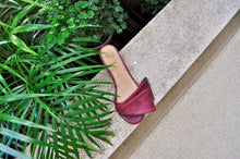 Load image into Gallery viewer, Sala Chaussures Atalanta Slides in Oxblood