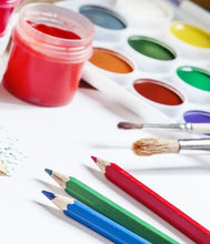 Art therapy paint brushes and pencils