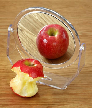 Apple in mirror metaphor for eating disorders