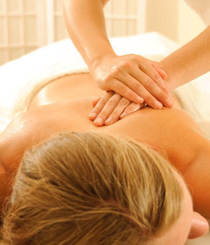 Holistic back massage therapy