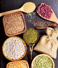 Assorted macrobiotic food and grains