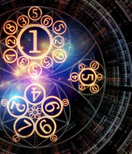 Surreal numerology design artwork