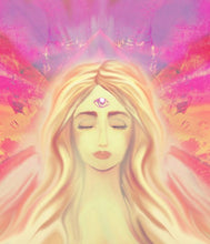 Artwork of a peaceful woman with third eye