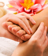 Foot reflexology treatment
