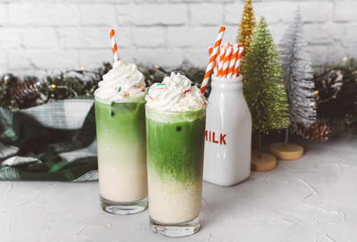 Peppermint Matcha Latte