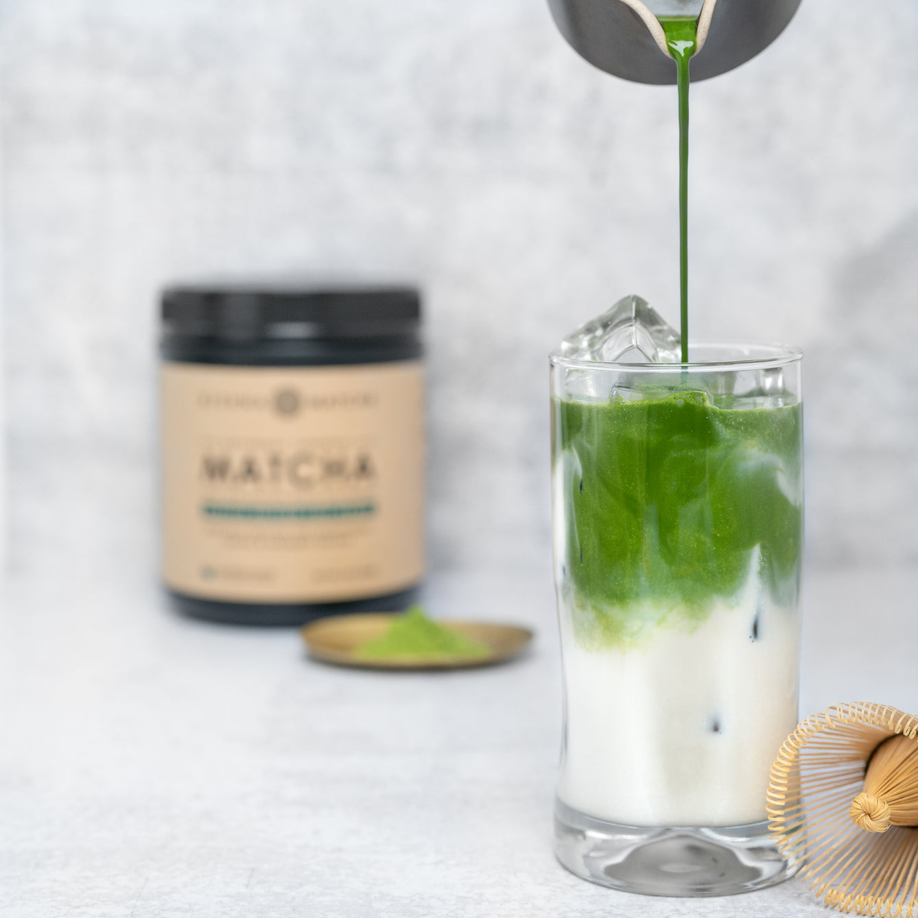 How to easily make cafe style matcha latte in three steps
