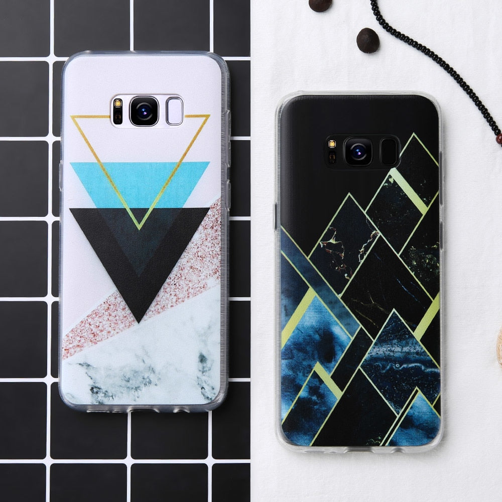 Geometric Marble Shard Case For Samsung Galaxy