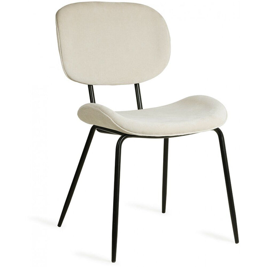 HKliving Creme Velvet Dining Chair 50% OFF