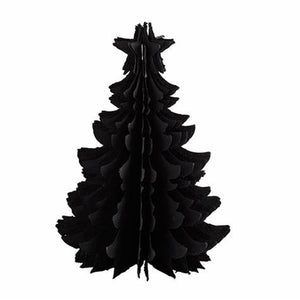 Standing Recycled Paper Christmas Tree Lg - Black PRE ORDER