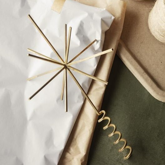 Christmas Ornament: Brass Tree Top Star