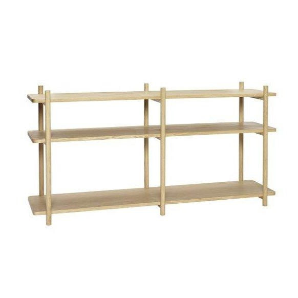Natural Oak Bookcase: 3 Shelves