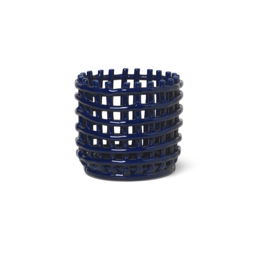 Ceramic Basket Blue S
