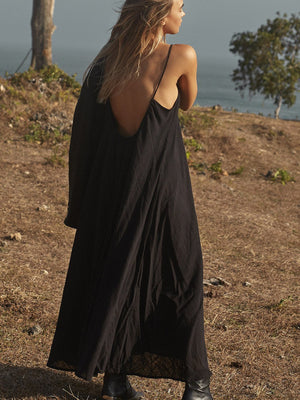 Amphitrite Raw Dress Black - PRE ORDER