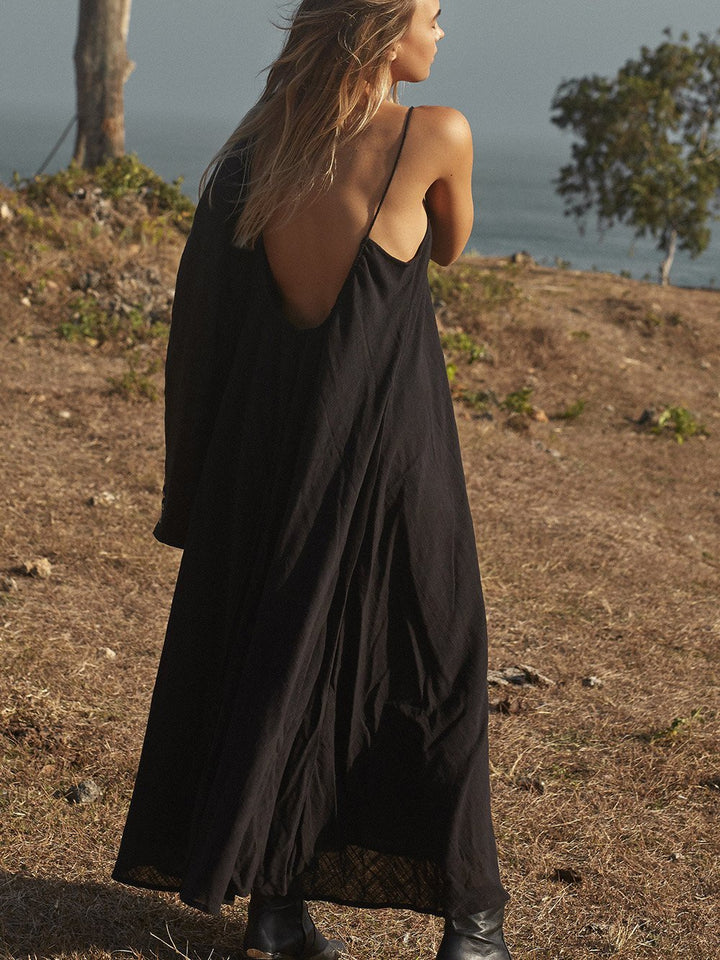 Amphitrite Raw Dress Black