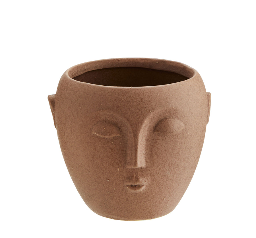 Face Plant Pot Terracotta S