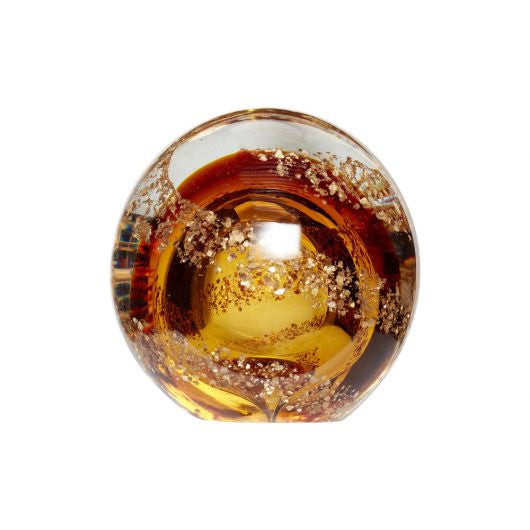 Amber & Gold Paperweight