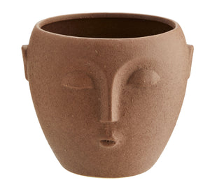 Face Plant Pot Terracotta L