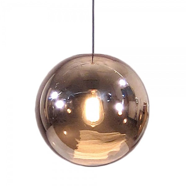 Glazed Bowl Lamp Copper