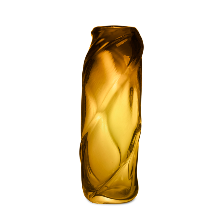 water swirl vase tall amber